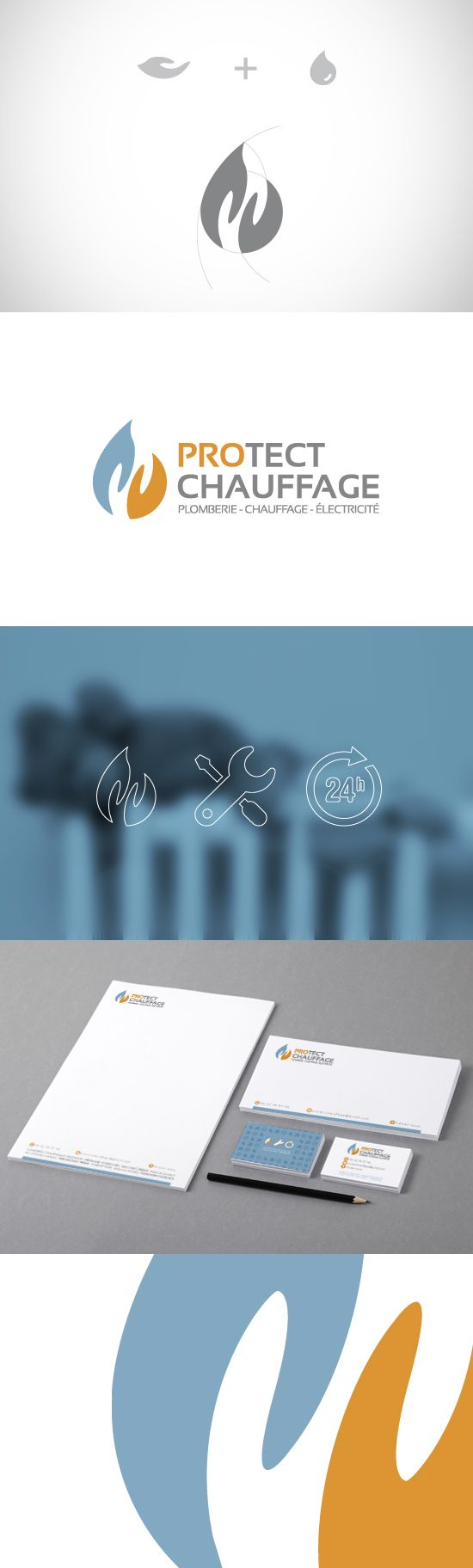 Logo Protect Chauffage - by clubincom