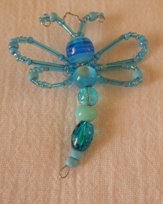 Glass Bead Dragonflies by alisunflowers on Etsy
