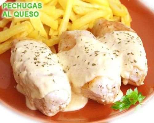 pechugas de pollo en salsa de queso