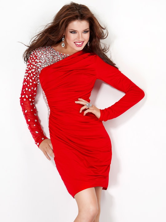 3 4 sleeve evening dress jovani
