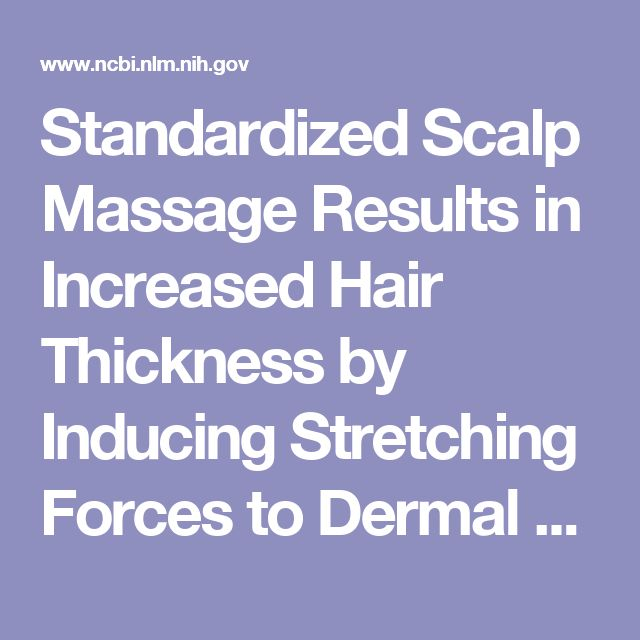 Standardized Scalp Massage Results in Increased Hair Thickness by Inducing Stretching Forces to Dermal Papilla Cells in the Subcutaneous Tissue