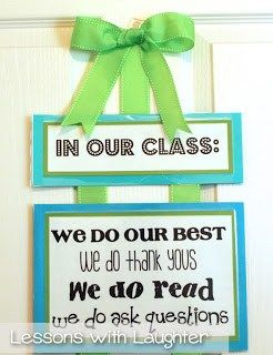 Classroom Job Board & In Our Class Banner - Lessons With Laughter