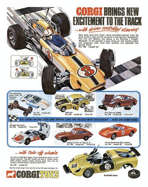 Corgi Motor Racing Ad `1969 by combomphotos, via Flickr