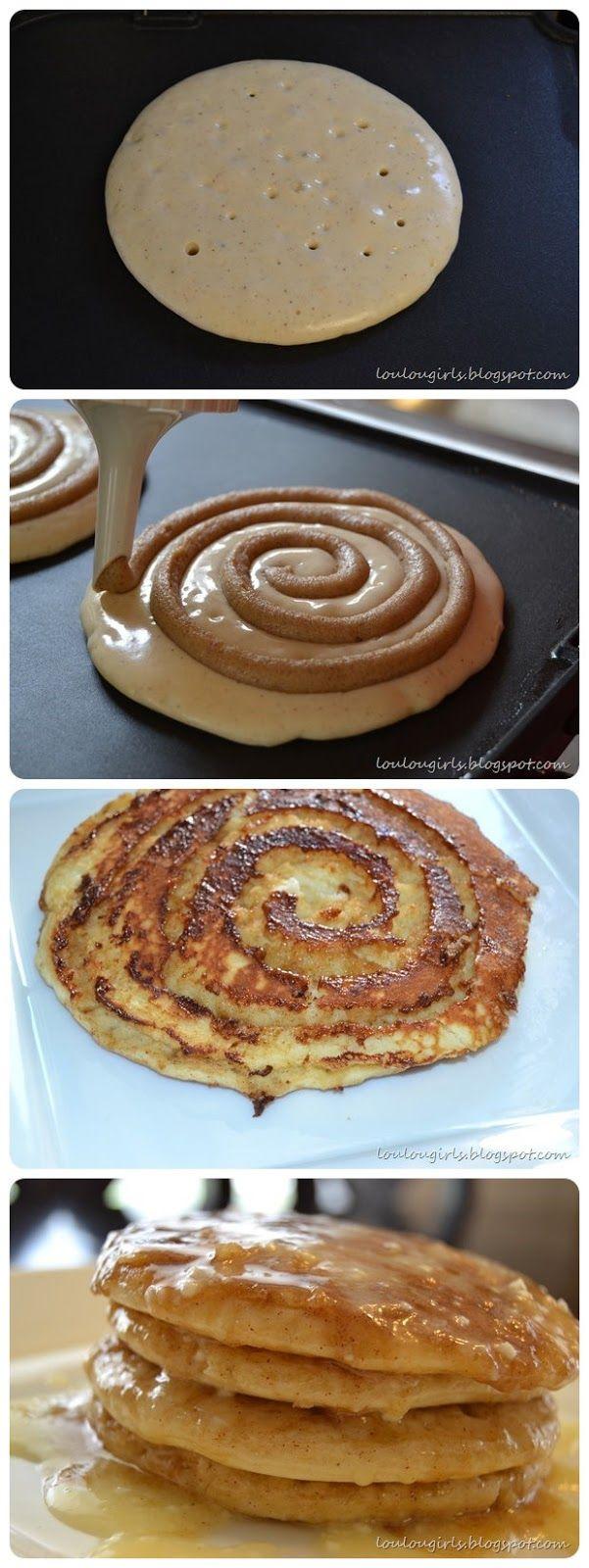 joysama images: Cinnamon Roll Pancakes