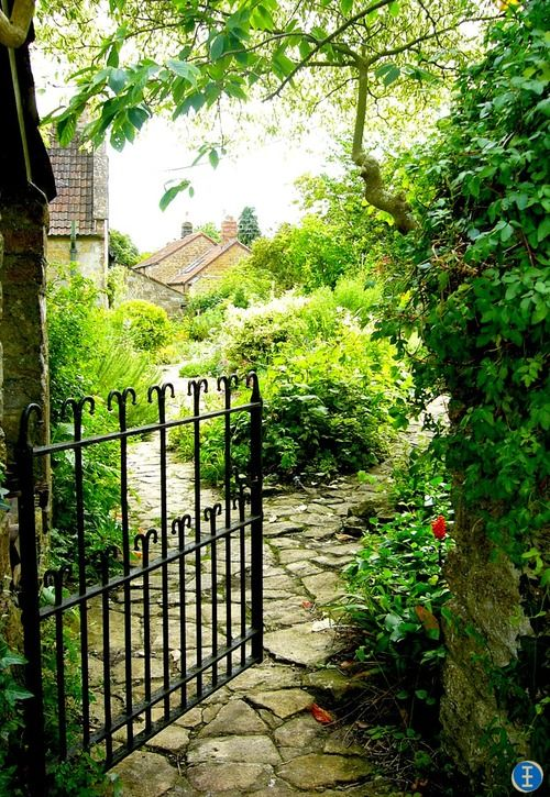 beautiful gate &  flagstone