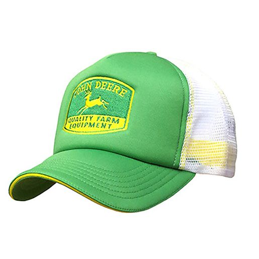 f87330e046f Green And White Foam Front Trucker Cap