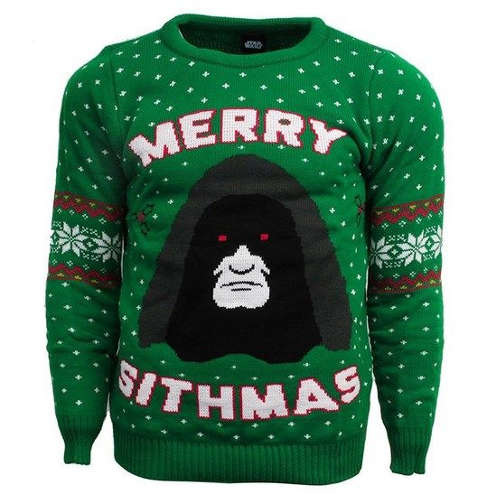 star wars green xmas jumper