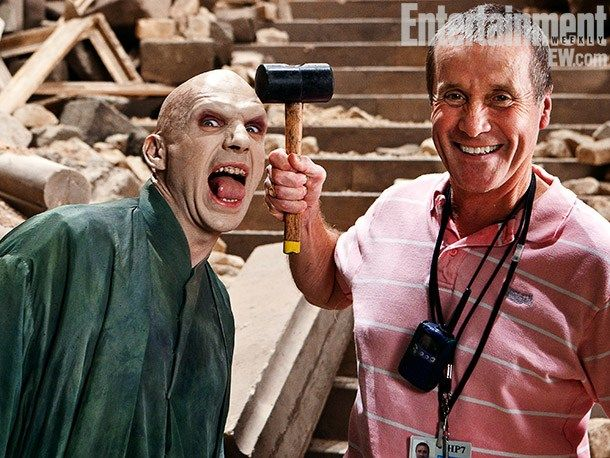 Fotografías detrás de cámaras de Harry Potter