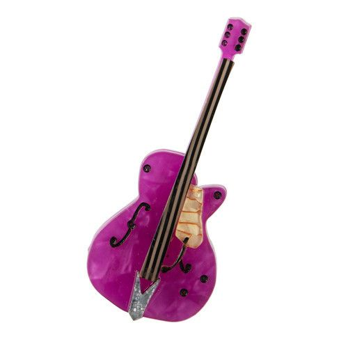 Guitar Hero (Erstwilder Purple Resin Brooch), now available. Hand assembled and hand painted, presented in a branded box.