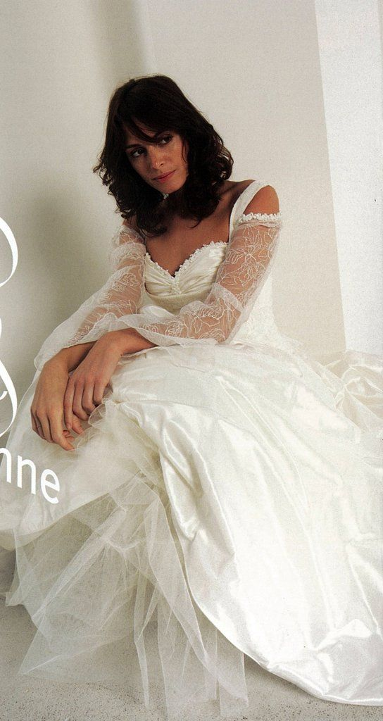 Lambert-creations style Jeanne lace bodice with straps, A line skirt
