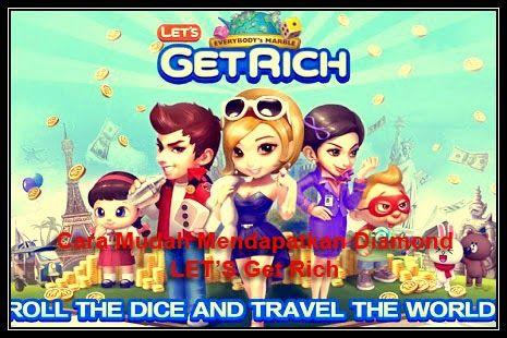Tutorial Android Indonesia: Cara Mendapatkan Diamond Line LET'S Get Rich GRATI...