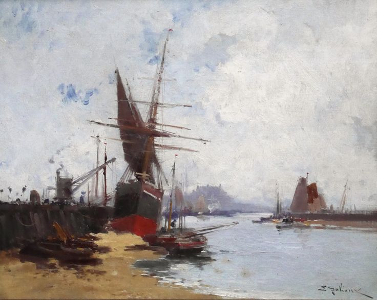 https://flic.kr/p/SUeaHm | Eugène Galien-Laloue - Boats in the Harbour [c.1910] | [Leighton Fine Art, Flackwell Heath - Oil on canvas, 40.6 x 33 cm]