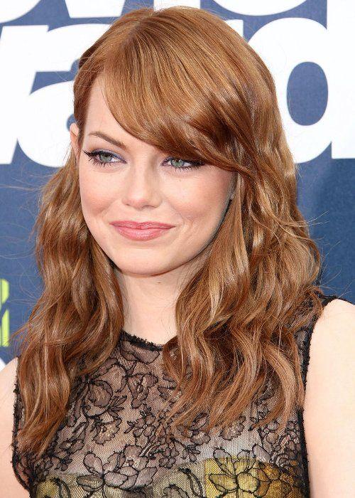 i like her hair! Medium Hairstyle, curled with side-swept bangs. Hmmmm....