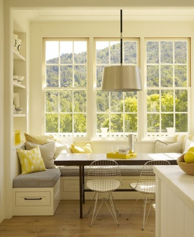 Dining area built in window seat dining areas for Window seat dining