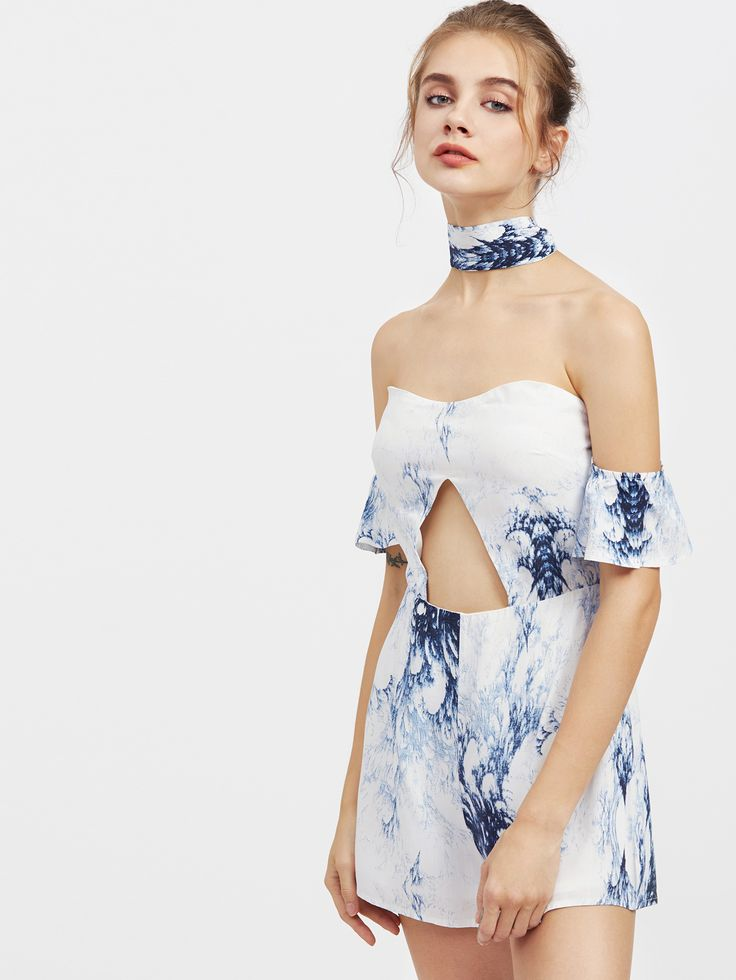 Shop Sweetheart Tie Front Chiffon Playsuit online. SheIn offers Sweetheart Tie Front Chiffon Playsuit & more to fit your fashionable needs.