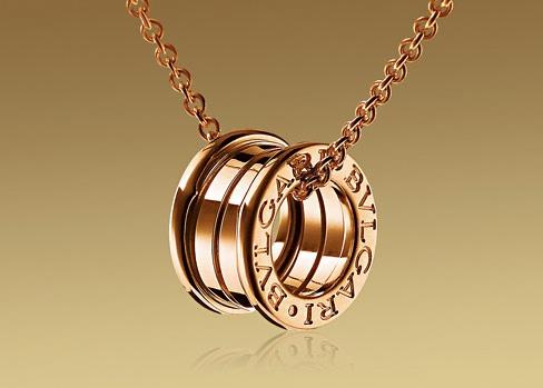bvlgari small round pendant in yellow gold