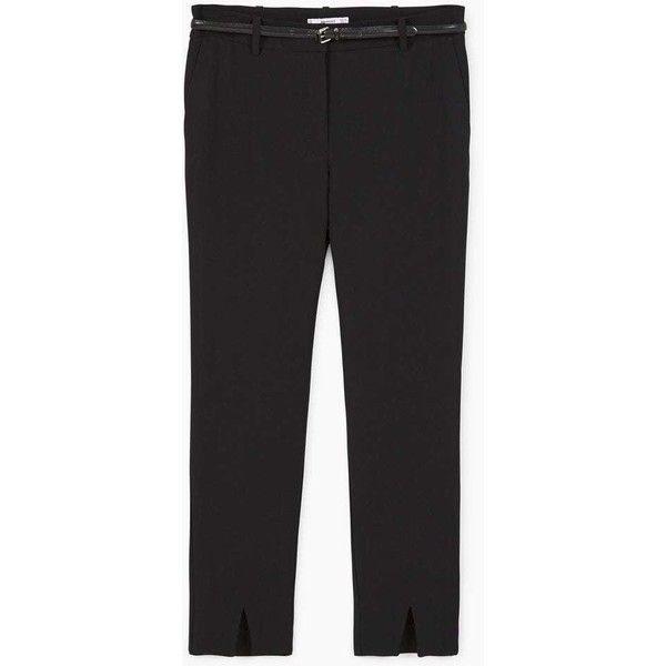 MANGO Slit hem trousers (3.440 RUB) via Polyvore featuring pants, slit pants, mango trousers и mango pants