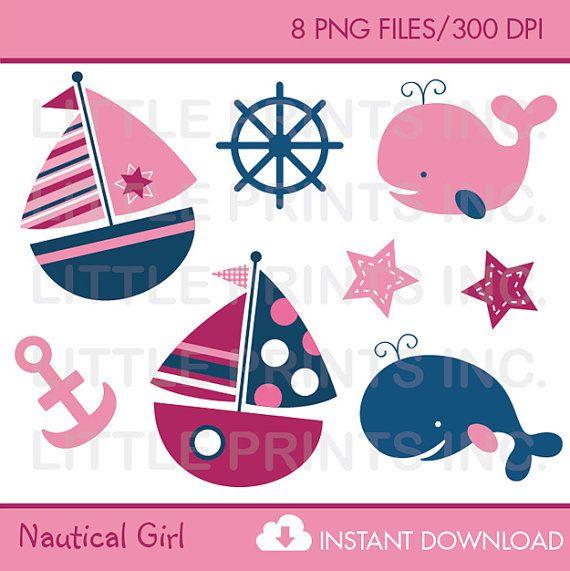 cute pink sailboat clipart whale clipart nautical