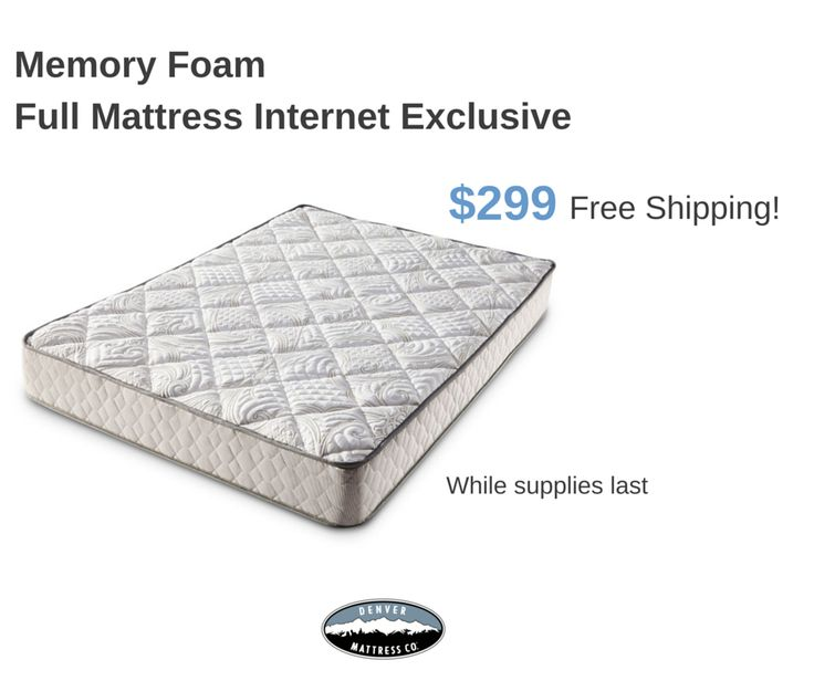 this high quality fullsized memory foam mattress from denver mattress is just 299 while supplies last