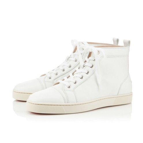 sneakers louboutin homme blanche