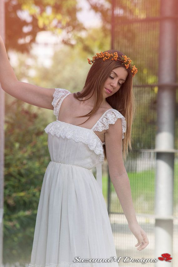 Wedding Dress Bohemian Wedding Gown Boho Bridal by SuzannaMDesigns