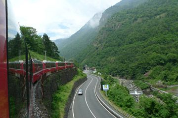 Bernina Express- getting from Zurich to Milan
