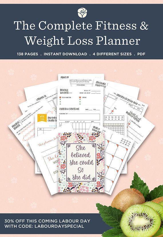 Fitness journal, fitness planner, health planner, fitness tracker, workout plann…