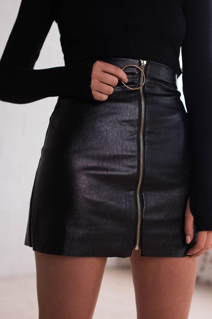 follow me @cushite Stone Fox Skirt   Black - Women's Clothing & Fashion Online – Style Addict