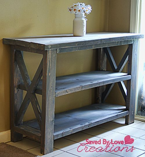 Rustic Foyer Cabinet : Make a custom console table consoles
