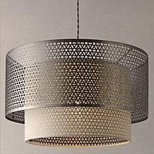 Buy John Lewis Meena Fretwork Steel Pendant Light Online at johnlewis.com