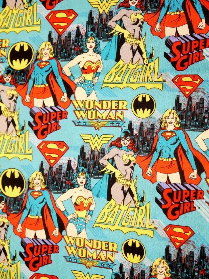 Comic Book Print Super Hero Pink DC Super Girl BatGirl