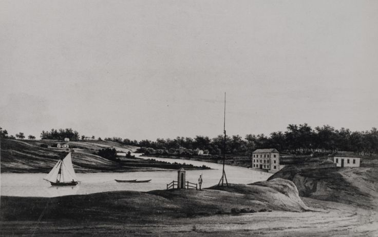 The Landing Place, Parramatta, from a painting, 1809 LSP00341