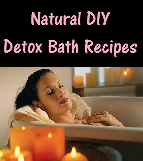 Natural DIY Detox Bath Recipes