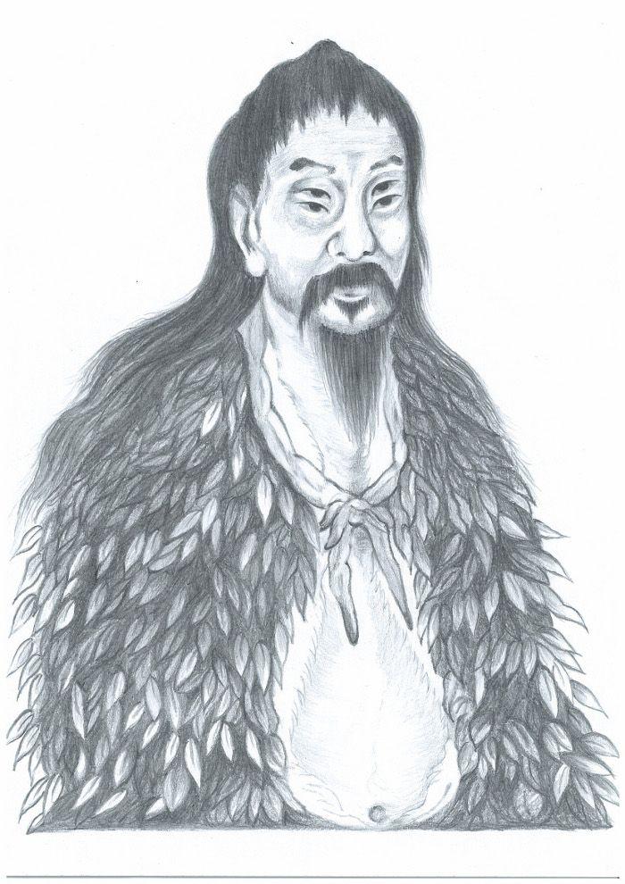 Changjie che creò i caratteri cinesi ( illustrato da Yeuan Fang / Epoch Times)