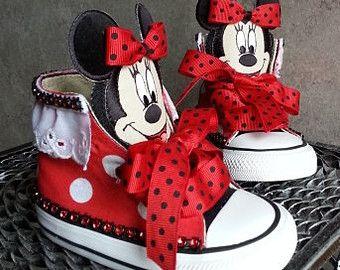 Mandrini di MINNIE MOUSE CONVERSE, scarpe ragazza, disney, 1 ° compleanno, scarpe da bambino, Topolino, principessa, ooc, corteo, compleanno, neonata