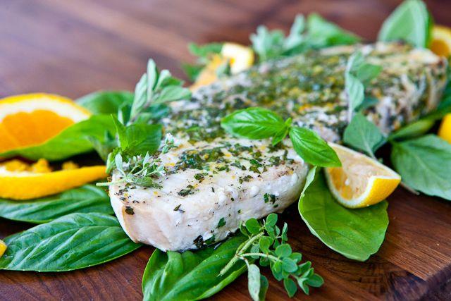 Grilled Fish with Citrus Herb Crust Recipe -5328