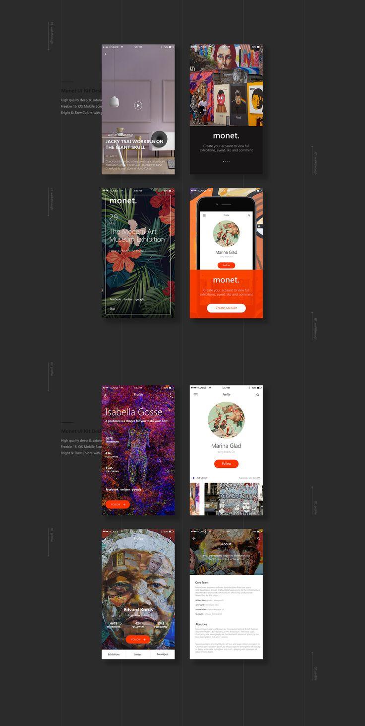 Monet: Freebie UI Kit on Behance