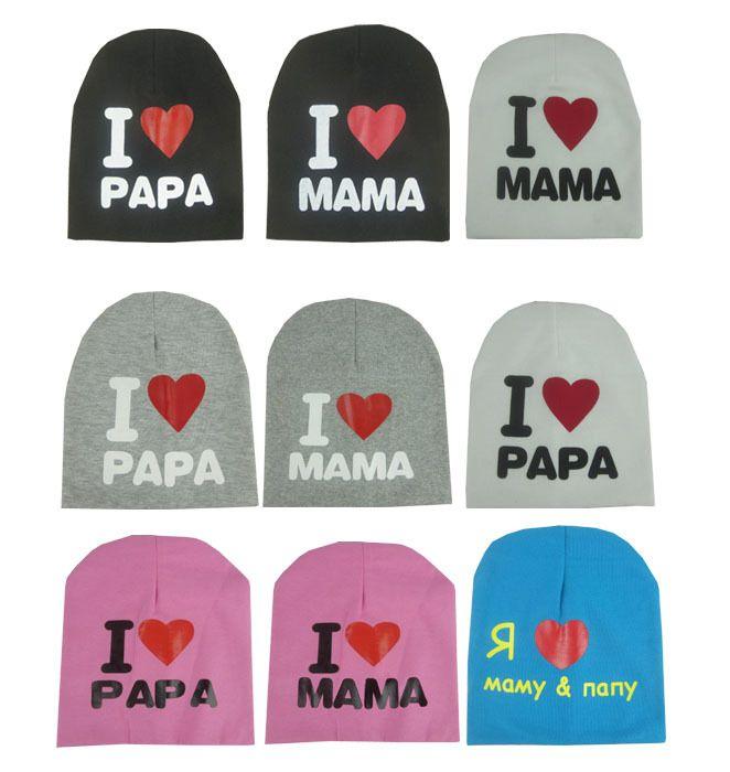 >> Click to Buy << baby summer hat adjustable cotton letter i love dad mum cap bonnet for kids #Affiliate