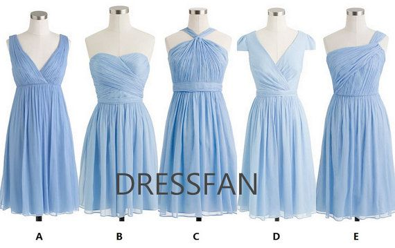 !!!!!!!!!!!! POWDER BLUE Bridesmaid dress/strapless/sheath by Dressfan on Etsy, $78.00