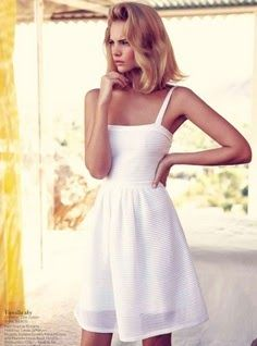 Christian Dior White Summer Dress. Such a classic! WhiteDress