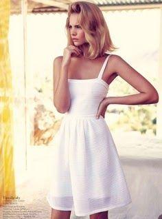 Christian Dior White Summer Dress. Such a classic! WhiteDress