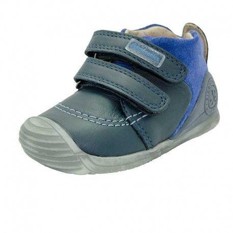 Zapatos azul marino de punta redonda Geox Glimmer infantiles GbJvfTUQp