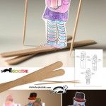 Fun winter theme activity. Use popsicle sticks and tooth picks as ski's and poles.