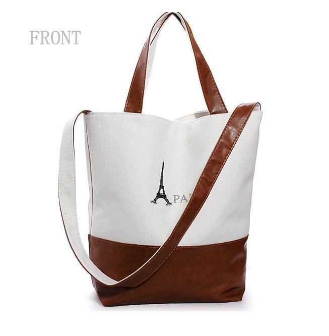 Women Handbag Retro Shoulder Bags Sling Bag Canvas Faux Leather  #unbranded