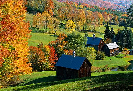 """Woodstock, Vermont  a p[nner says""""the most beautiful town I ever visited in New England"""""""