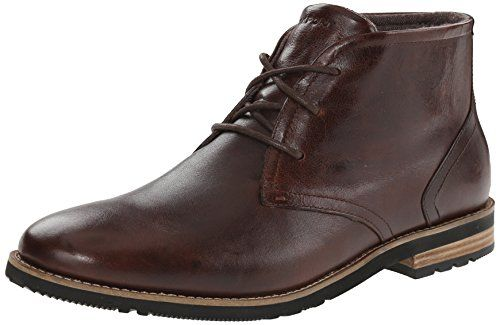 Rockport Men's Ledge Hill 2 Chukka Boot, Dark Brown, 8.5 W US