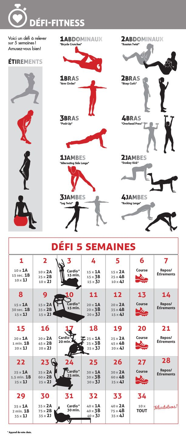 Défi Fitness 5 semaines | 5-week fitness challenge
