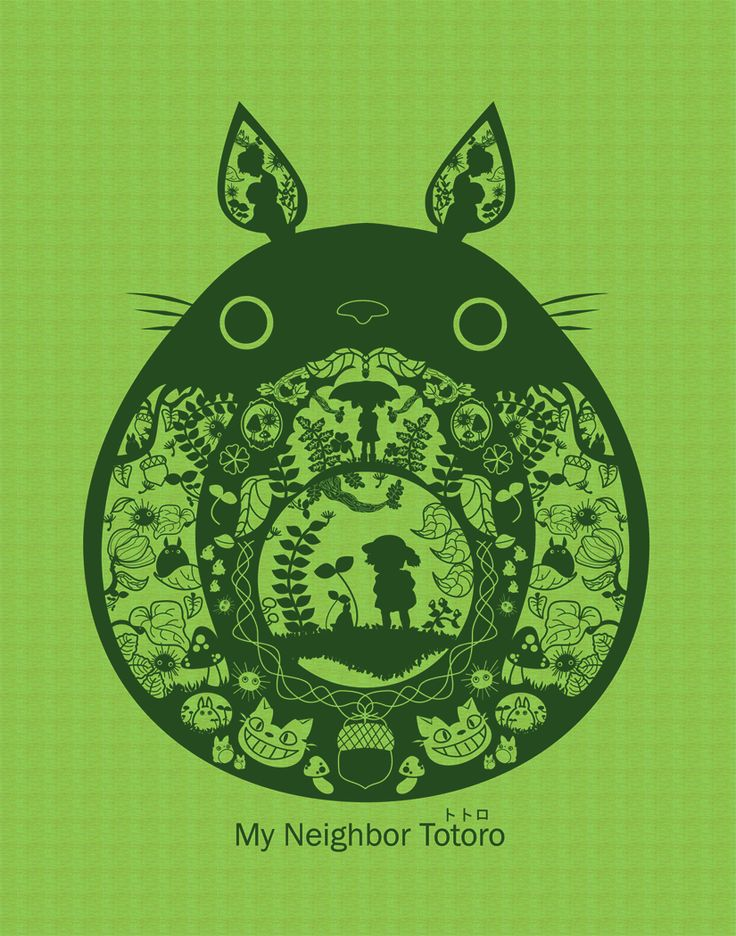 Totoro! by Shaojie Wang http://www.redbubble.com/people/ruo7in/works/10056012-700-views-totoro?c=182080-pokemon-and-anime