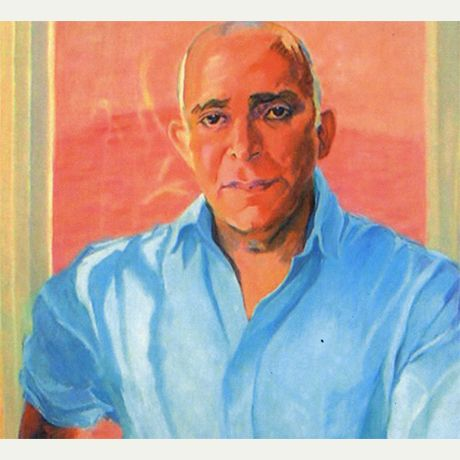 Aamer Hussein (Pakistan), featured on PI in November 2013. Image © Cropped version of painting by Gerarda de Orleans - Borbon, 2004