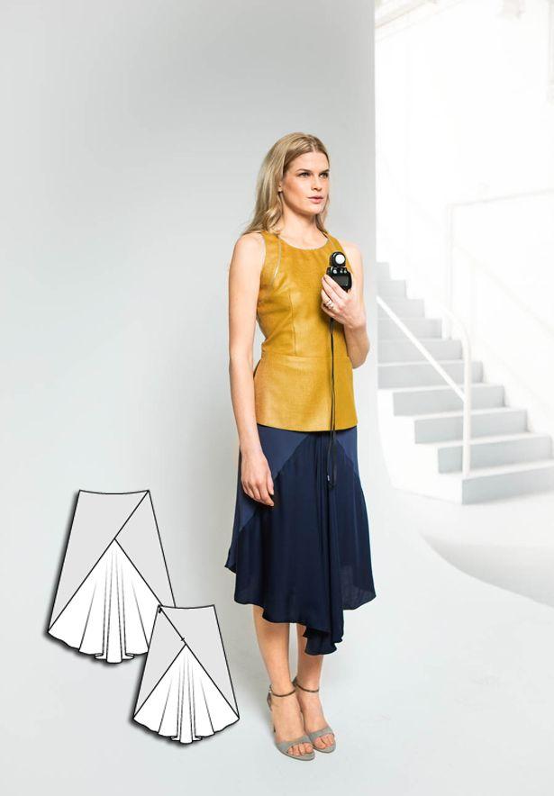 Triangle Skirt 07/2015 #burdastyle #sewingpattern #sewing #skirtpattern